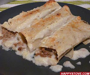 Traditional Bolognese Cannelloni