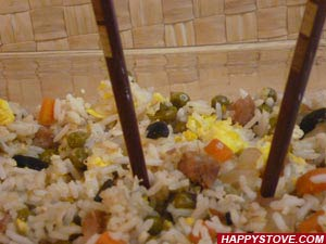 Cantonese Fried Rice - By HappyStove.com
