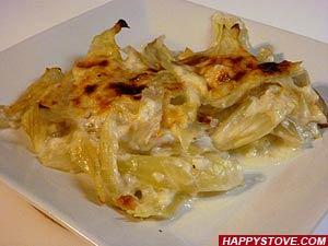 Oven Baked Fennel in Bechamel Sauce