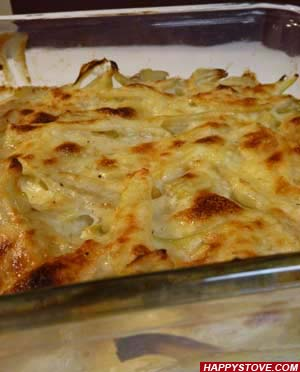 Oven Baked Fennel in Bechamel Sauce - By happystove.com