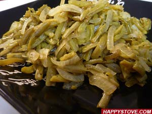 Saute of Green Beans and Onions