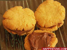Nutella Shortbread Cookie Sandwiches