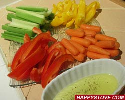 Pinzimonio - Vegetables Dip - By happystove.com