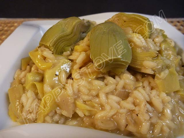 Artichoke Risotto - By happystove.com